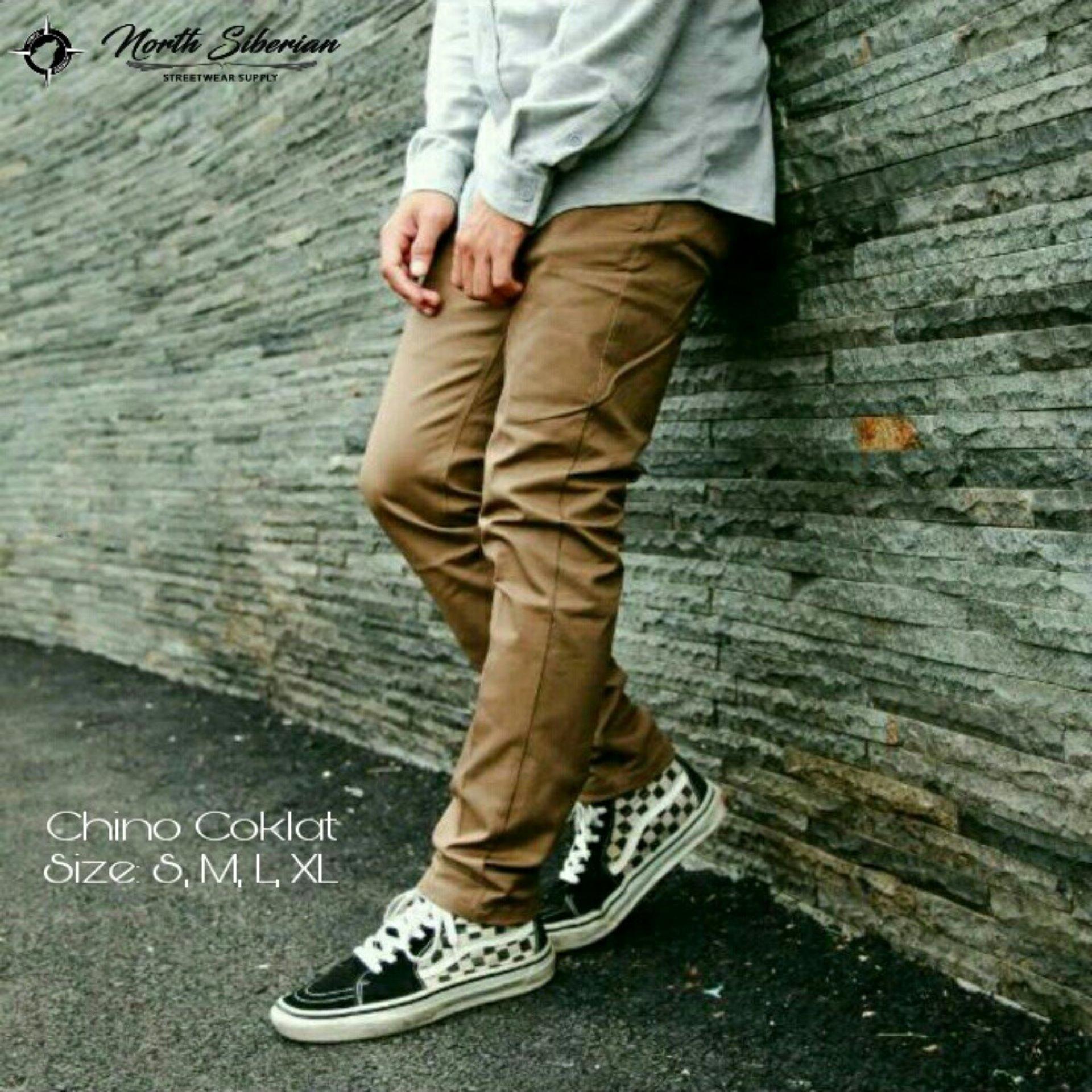 Harga Celana Chino Pria Coklat Terbaru Termurah Bulan November 2018 Tcash Juli Jeans Strech Panjang Model Slimfit Hitam Cino Premium Polos Muda Medium Brown